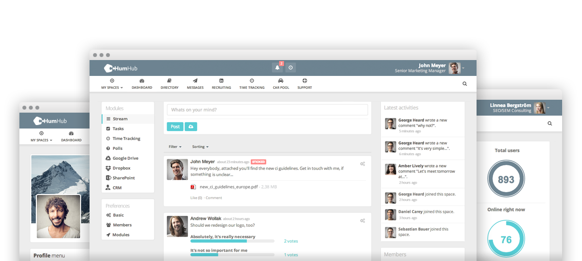 HumHub - The flexible Open Source Social Network Kit for Collaboration