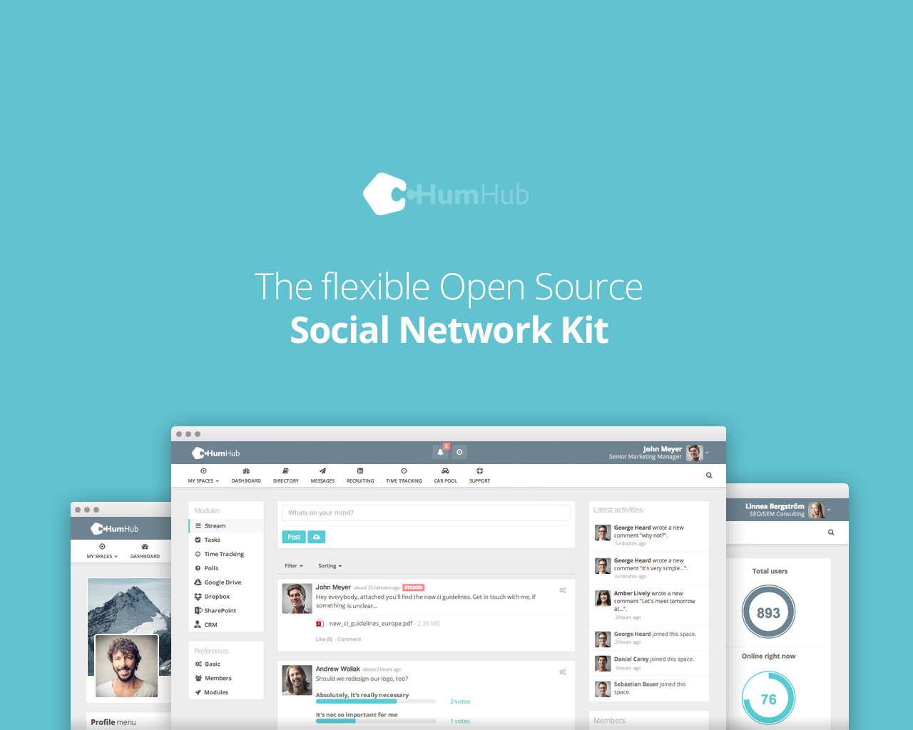 Humhub The Flexible Open Source Social Network Kit For Collaboration