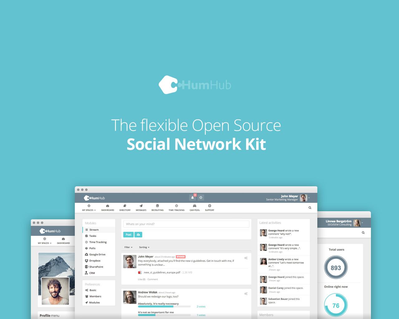 free social network script open source